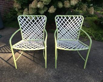 Mid Century Moder Brown Jordan Patio Chairs