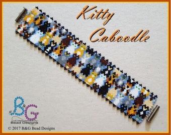 KITTY CABOODLE Peyote Bracelet Cuff Pattern