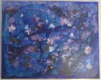 Mixed media painting print