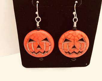 Simple Jack-O-Lantern Earrings