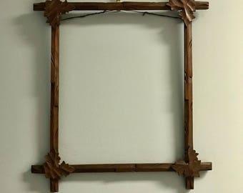 Antique Black Forest Picture Frame