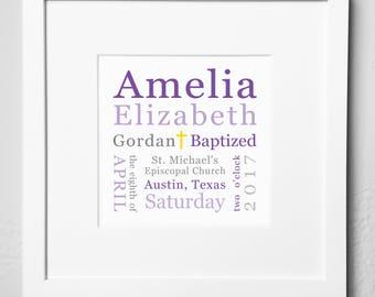 Personalized Baptism Plaque / Digital Options / Baptism Gift / Baptism Keepsake / Baptism Memento / Baptism Gift - Girl / Baptism Gift - Boy
