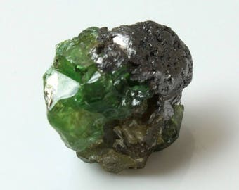 Tsavorite Garnet with Graphite, M-1089