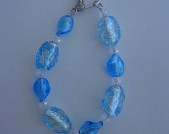 "Chunky Blue Bracelet/Anklet ,X-Large Blue Bracelet,10"" Blue Anklet"