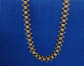 70's Sarah Coventry Necklace, Gold Tone Necklace,Gold Chain