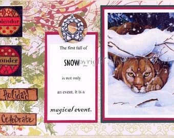 WILDLIFE CHRISTMAS CARDS; free shipping, 5 x 7 inches approximately with envelopes, blank inside