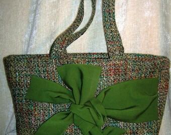 Rebecca - dramatic  big bow shoulder strap purse