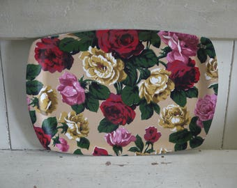 Vintage Floral Tray - Made In England - 1950s Tray