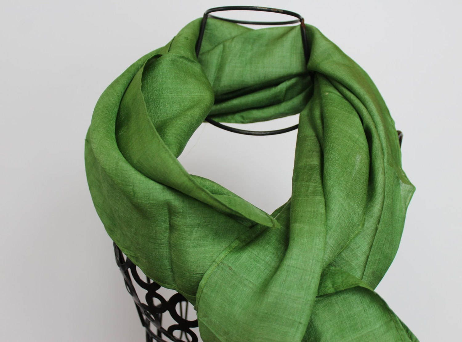 unique scarves green silk scarf womens scarves gift for
