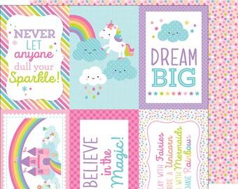 fairy-fetty  12 x 12 double-sided cardstock doodlebug design