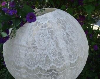 "STOP N SAVE 20% White, Ivory, Black Lace Fabric Lanterns size 12"" 16"" 20"""