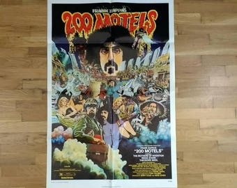 Frank Zappa - Mothers of Invention - 200 Motels - Original - One-sheet - Movie Poster - 27x41 inches - Rock n' Roll - 1971 - Cult Film