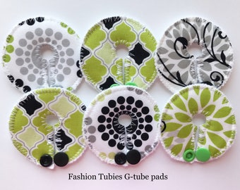 Set of 6 G tube pads / gtube pads / g-tube pads / gtube covers / feeding tube pads / g tube covers / mic-key button cover / AMT mini button