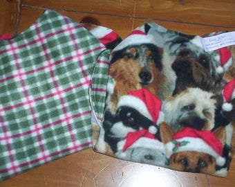 Pet Jacket .. CLEARANCE .. Size Large! Reversible Fleece! .. Dog or Cat ***** Keep Em' Warm!  .. And CUTE Too!!