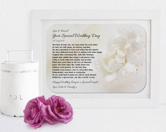 Personalised Your Wedding Framed Poem