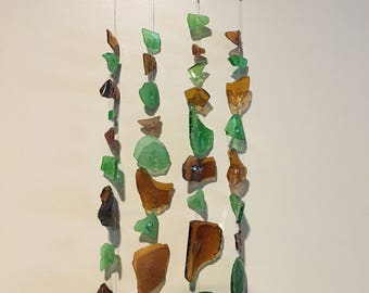 Chagrin river glass wind chime and sun catcher