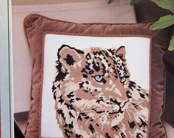 Snow Leopard counted cross stitch chart from Yours Truly (original design by The Extension, Inc) Platinum Series #6227