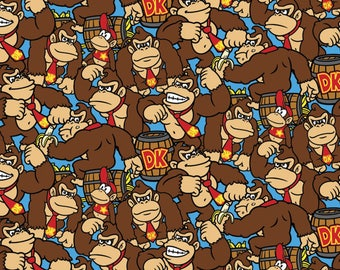 Nintendo Fabric Donkey Kong Allover Fabric From Springs Creative