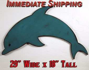 Dolphin Wood Sign Wood Dolphin Decor Dolphin Wall Decor Dolphin Wall Hanging Boys Room Decor Nautical Boys Room Nautical Theme READY TO SHIP