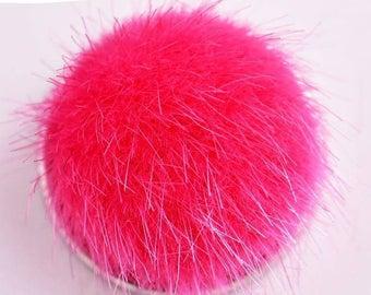 Ball of fur fuchsia 18mm snap