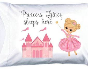 Personalized Princess Pillowcase