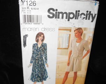 Misses Top Shorts Skirt Simplicity 7126 Womens 8 10 12 Top Shorts Skirt Maren Dress