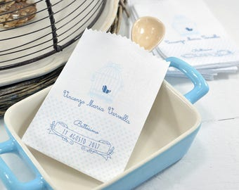 10 Personalized favors-cutlery holder for birth and baptism