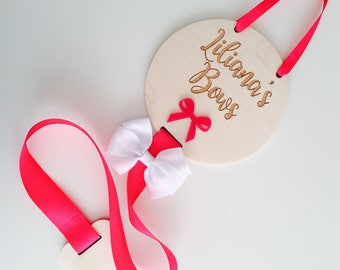 Personalised wooden Hair Bow Holder