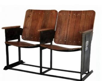Vintage Theater Seats for Home Man Cave, Old Replica Furniture