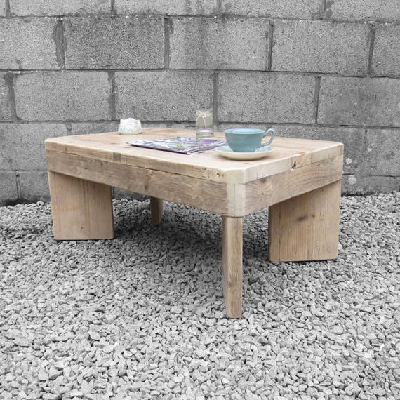 Rustic Pine Scaffold Board Coffee Table Up-Cycled Vintage Table
