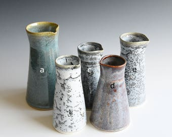 Vases handthrown in semi-porcelain