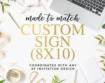 Made to Match Custom Sign (8x10)