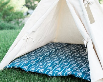 Arrow Teepee Mat, Kids Play Tent Cushion Mat Base, Quilted Teepee Mat, Choose From Several Colors