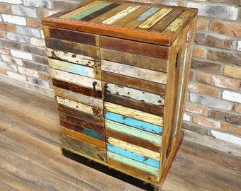 Reclaimed Boat Wood Drinks Cabinet - Wine Rack - Rustic Furniture