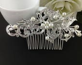 Bridal Wedding Hair Jewellery Accessories Clips Pearls Crystal Clipinpin Comb Bridesmaid Hair Wedding Hair Accessories