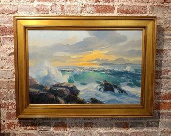 Bennett Bradbury  - California Seascape -Stunning Oil Painting on canvas