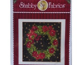 Memorial Day Sale Pattern~Christmas Glimmer Wreath Pattern By Shabby Fabrics~ 45 1/2In X 45 1/2In