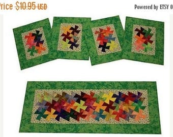 Summer Sale- Pattern,Twist It Table Runner & Placemats Fast Shipping Pt403