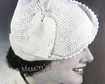 Flapper 1920s Style Hat, Vintage Crochet Pattern, INSTANT DOWNLOAD PDF