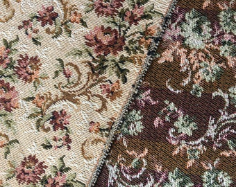 Vintage tapestry fabric | double-sided design | perfect for upholstery | 2.8M length