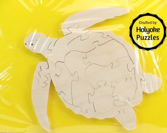 Sea Turtle Wood Puzzle - Color Your Own Craft Puzzle - Kids Craft Project