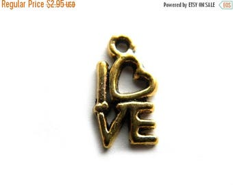 HALF PRICE 10 Gold Plated Love Charms