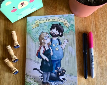 May Contain Cats Volume 2, cute diary comic, couple journal, cat comics, graphic novel, indy comics, independent