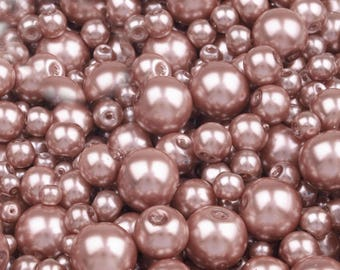 27 B - 100 g of 4-12 mm glass pearl beads different sizes