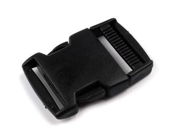 2 clip 30 mm black strap