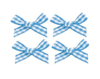 4 nodes blue gingham 2 cm