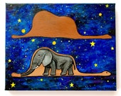 The Little Prince Galaxy Custom Acrylic Painting