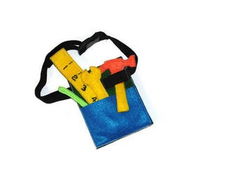 Felt Tool Belt with Tools Toy Set, Pretend Creative Play, Homeschool Learning, Boy Birthday Gift