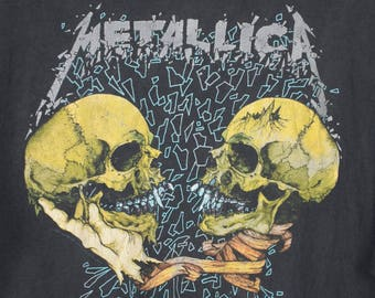 1991 METALLICA sad but true t shirt - vintage 90s - pushead - inside you
