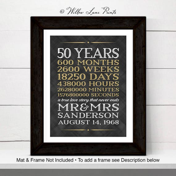 50th Anniversary Gifts For Grandparents 50 Year Anniversary Gift